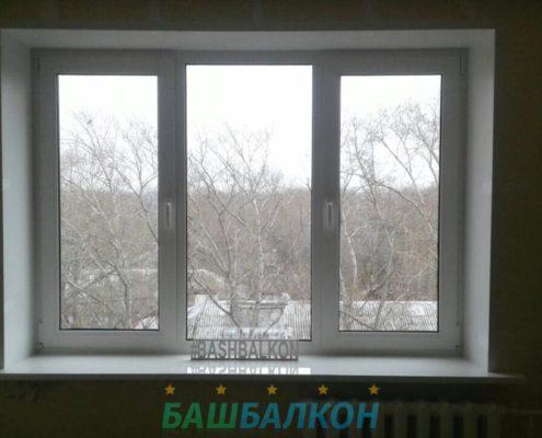 установка окна из пластика