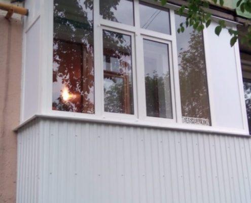 комплексная отделка балкона