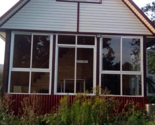Остекление веранды частного дома