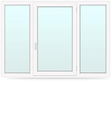 пластиковое окно тройное