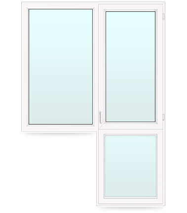 пластиковое окно с дверью