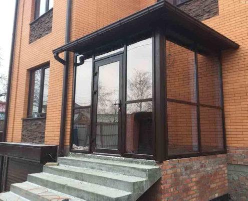 алюминиевые двери в частный дом 1