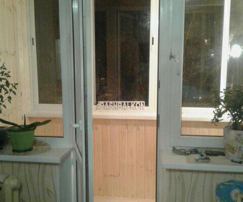 обшивка и застекление балкона