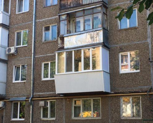 вынос на балконе в хрущевке