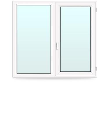 пластиковое окно двойное