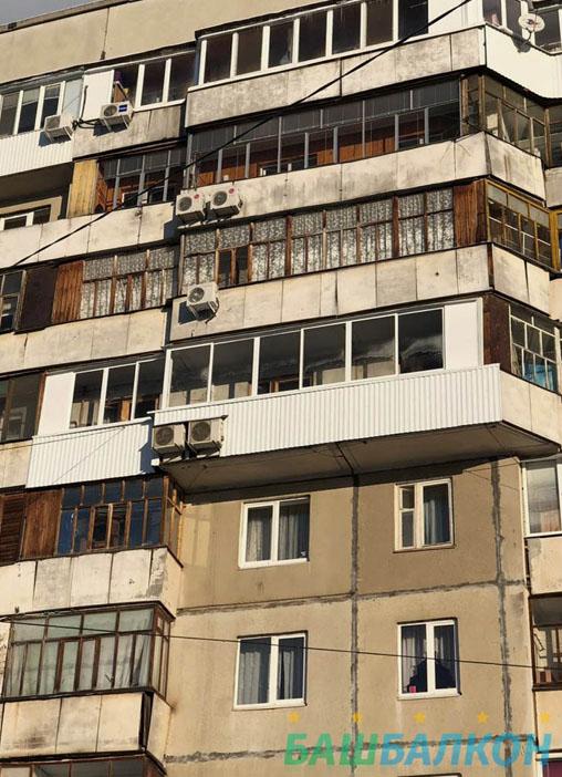 наши работы по остеклению балкона