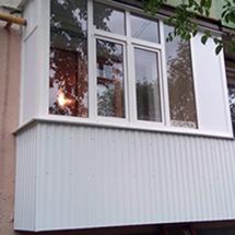 внешняя отделка балкона под ключ в уфе