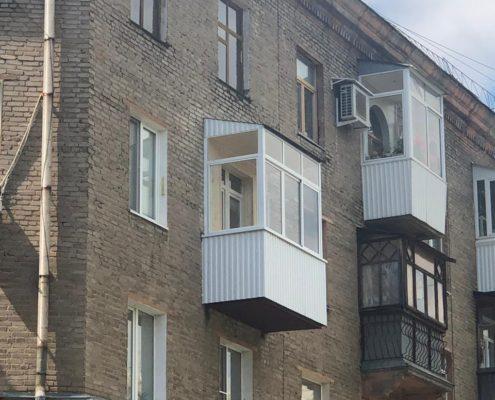 отделение и отделка балкона с выносом