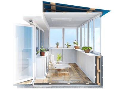 объединение балкона или лоджии с кухней